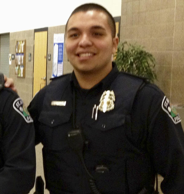 St. Anthony police Officer Jeronimo Yanez outside the City Council chambers in St. Anthony, Minn., in January 2013.