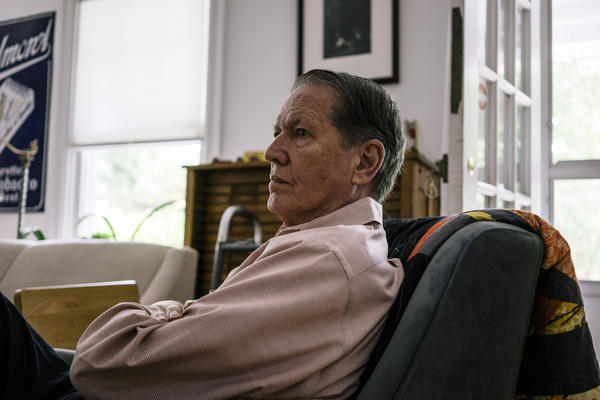 Artist William Christenberry at his home in Washington, D.C., in 2015. Christenberry died Monday at the age of 80.