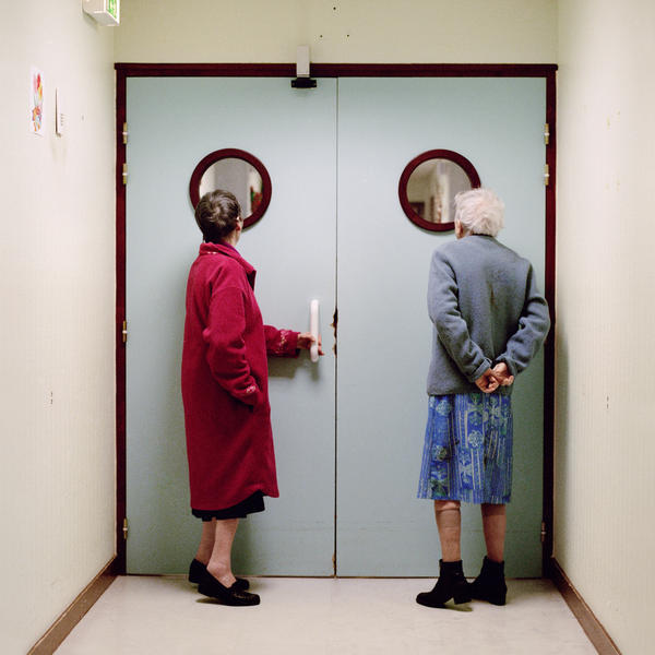 Daniels spent three years working on her project, <em>Into Oblivion,</em> which documents life inside a geriatric unit in France.