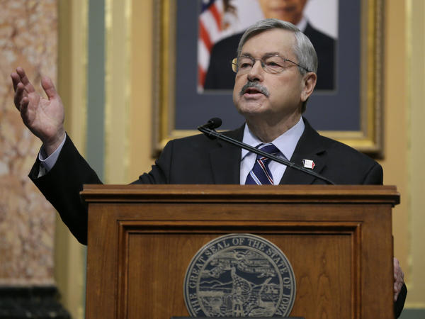 Iowa Gov. Terry Branstad has been named as the next U.S. Ambassador to China. He's pictured here delivering his annual Condition of the State address before a joint session of the Iowa Legislature, in January.