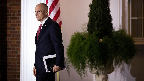 Andrew Puzder, chief executive of CKE Restaurants, exits after his meeting with President-elect Donald Trump at Trump International Golf Club in Bedminster, N.J., last month.