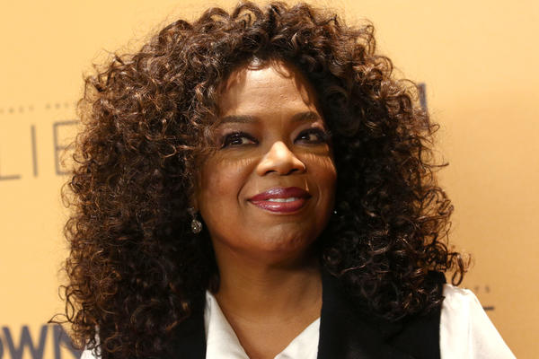 Oprah Winfrey attends the premiere of the Oprah Winfrey Network's documentary series, <em>Belief</em>, at The Times Center in New York.
