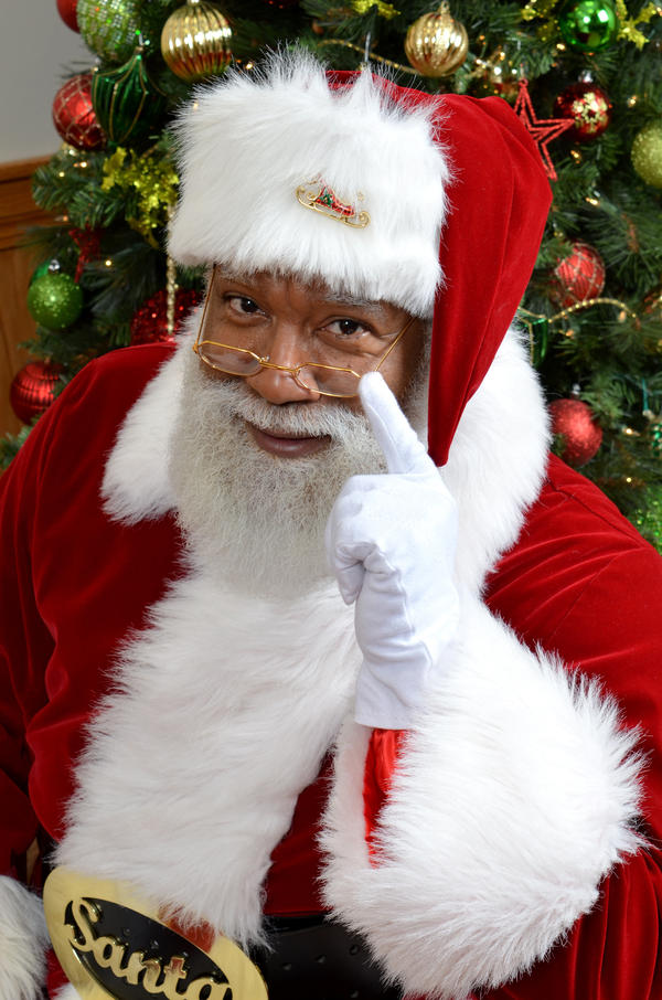 Larry Jefferson was the first black Santa Claus at the Mall of America in Bloomington, Minn.