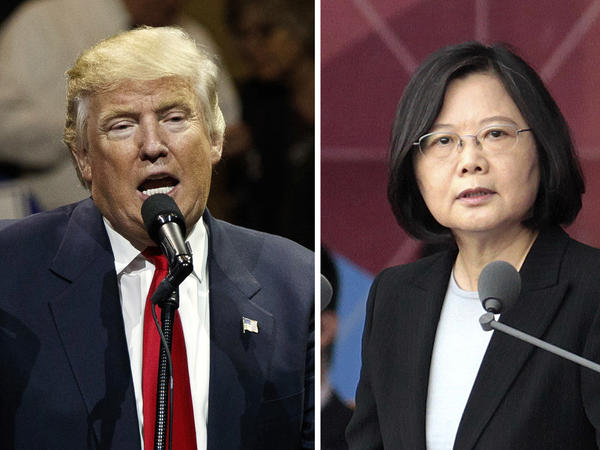 """After President-elect Donald Trump's conversation with Taiwan's President Tsai Ing-wen (right), and his subsequent suggestion that the """"One China"""" policy could be reconsidered, a Chinese government spokesman warned that if the policy """"is interfered with or damaged, then the healthy development of China-U.S. relations and bilateral cooperation in important areas is out of the question."""""""