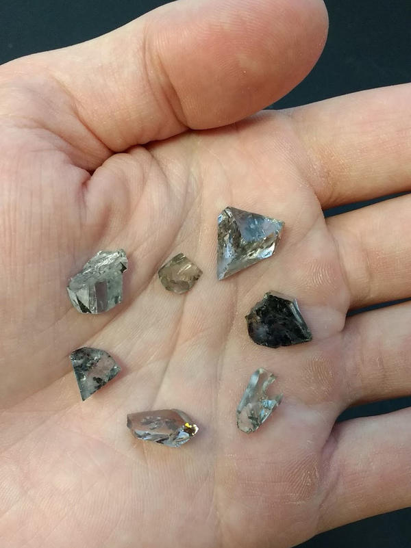 Because they weren't allowed to smash open the world's most valuable diamonds, scientists instead studied pieces leftover from when the gems were cut.