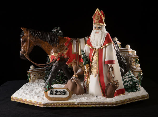 Billie Mochow's gingerbread sculpture was among the top 10 winners. Mochow says she is a self-taught baker.