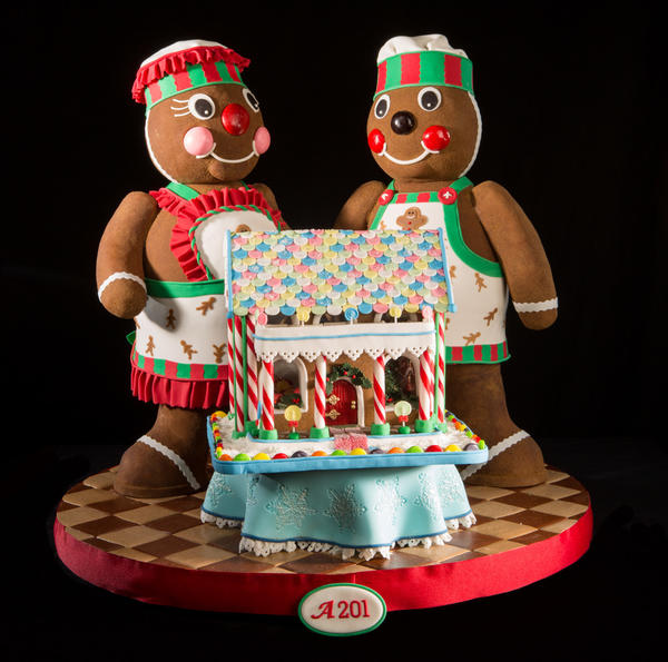 The only rules of the contest: Everything has to be edible, consist of at least 75 percent gingerbread and be smaller than a two-foot square box.