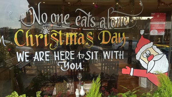 After Shish's handwritten sign erupted on social media, the restaurant painted a sign on the window to announce the event.