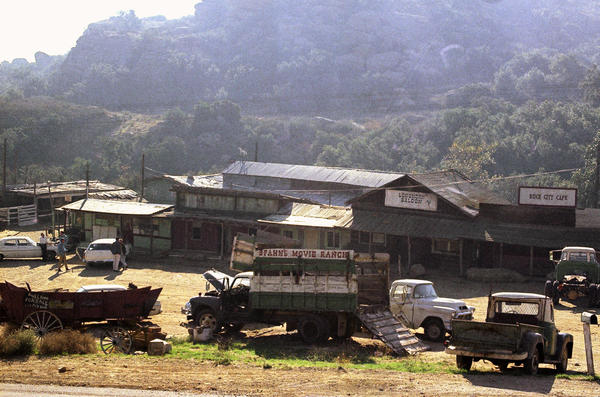 "The Spahn movie ranch near Chatsworth, a Los Angeles suburb, in 1969, where Charles Manson and his ""family"" of followers lived at the time of the Tate-LaBianca killings."