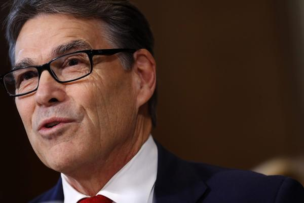 Former Texas Gov. Rick Perry, President-elect Donald Trump's choice for secretary of energy, testifies during his confirmation hearing before the Senate Committee on Energy and Natural Resources on Capitol Hill on Jan. 19, 2017 in Washington, D.C. (Aaron P. Bernstein/Getty Images)