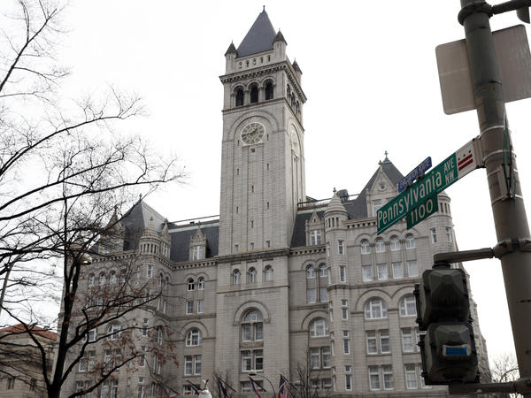 The Trump International Hotel in Washington, which the president-elect and his spokesman promoted Thursday.