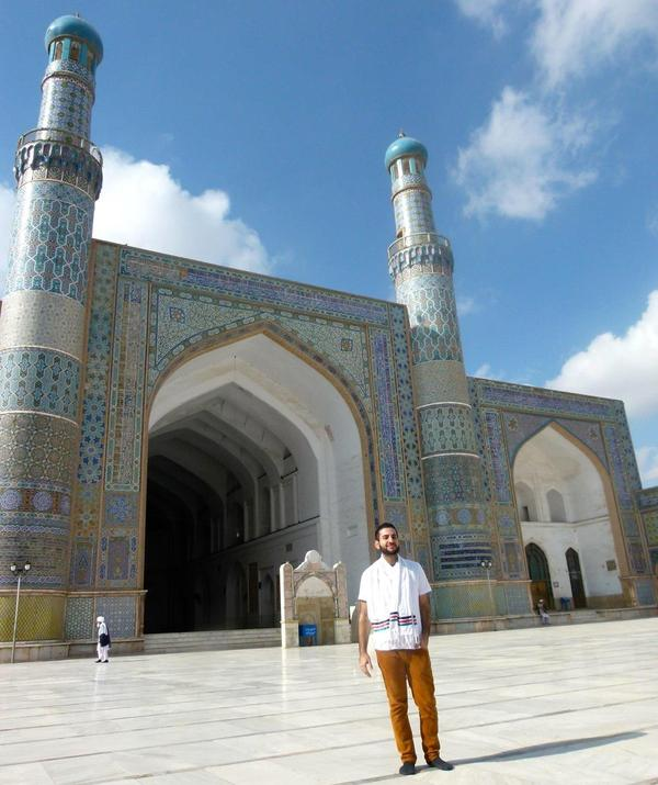 Bilal Askaryar visited Herat's Grand Mosque on a trip to Afghanistan in 2014. He also returned to the site of his family home in Kabul, and found it gone after years of war.