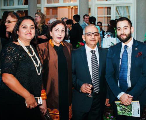 Askaryar (right) attended a recent event at Afghanistan's embassy in Washington, D.C., with (left to right) his cousin, mother and father.