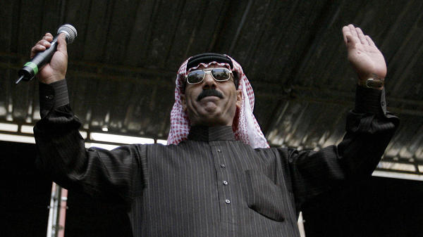 Syrian musician Omar Souleyman performs at the 16th Sonar Festival in Barcelona on June 19, 2009.