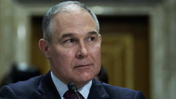Oklahoma Attorney General Scott Pruitt at a Jan. 18 Senate Environment and Public Works Committee confirmation hearing for his nomination to lead the EPA. Pruitt's nomination passed in committee Thursday. He will still need to be confirmed by the full Senate.