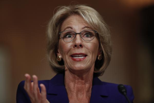 In her written responses to Senate Democrats, Education Secretary nominee Betsy DeVos used inflated graduation rate figures for virtual charter schools.