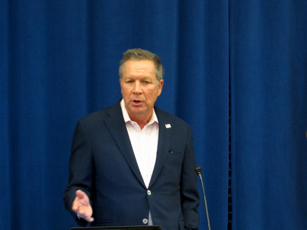 Ohio Gov. John Kasich speaking on Feb. 1. Kasich has postponed the state's next eight executions amidst a legal challenge to Ohio's lethal injection protocol.