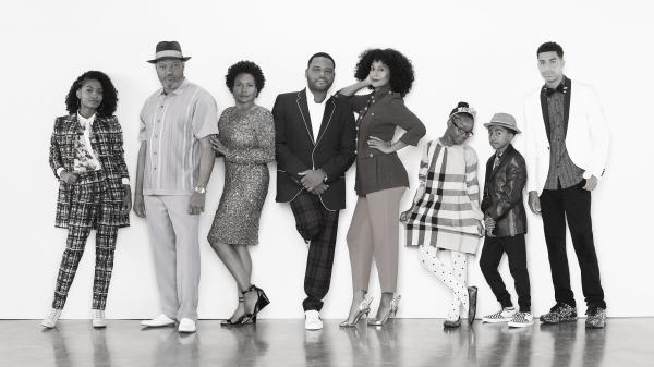 ABC's <em>Black-ish</em> stars Yara Shahidi, Laurence Fishburne, Jenifer Lewis, Anthony Anderson and Tracee Ellis Ross, Marsai Martin, Miles Brown and Marcus Scribner.
