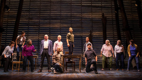 <em>Come From Away</em>, whose cast is pictured here,<em> </em>is one of many musicals competing for attention in Broadway's current surge of openings.
