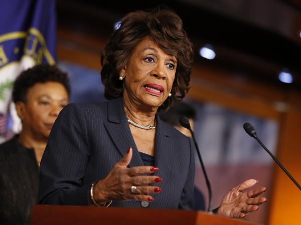 Rep. Maxine Waters, D-Calif., speaks at a press conference on Capitol Hill on Jan. 31. Waters called for an investigation into Trump administration ties to Russia.