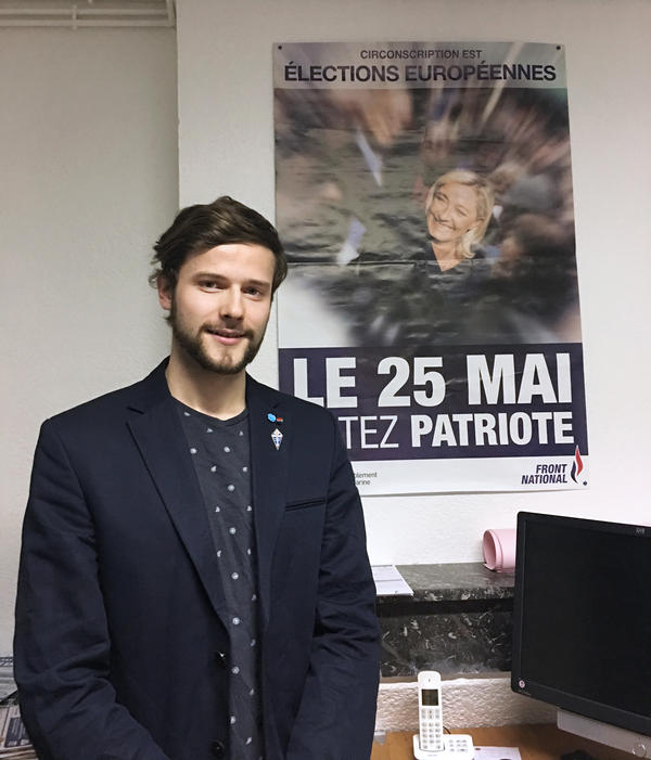 """""""What attracts young people to Marine Le Pen is her promise to restore French grandeur,"""" says Emilien Noé, 21, who runs the National Front's youth wing in eastern France. """"We will not only have a better economy, but she will make us proud to be French again."""""""