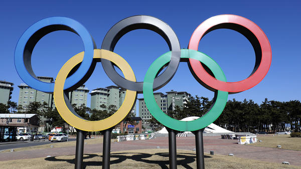 The Olympic rings symbol is seen in Gangneung, near the venue for the ice hockey events, as preparations continue for the PyeongChang 2018 Winter Olympic Games in South Korea.