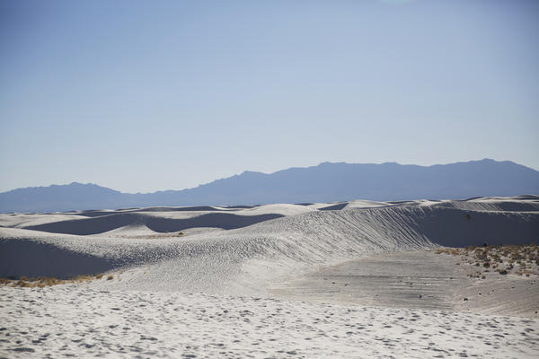 Landscape of White Sands National Monument in southern New Mexico.