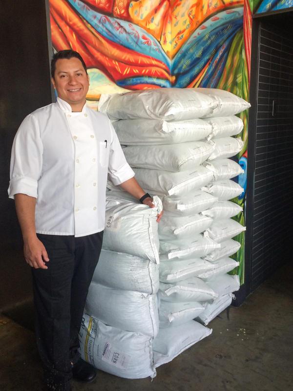Chef Alexis Samayoa of Espita Mezcaleria, a trendy Mexican restaurant in Washington, D.C., buys imported, dried corn from Masienda.