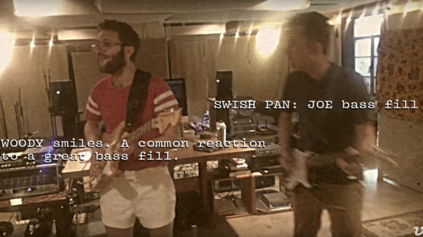 "A screenshot of Vulfpeck's video for ""Cory Wong."""