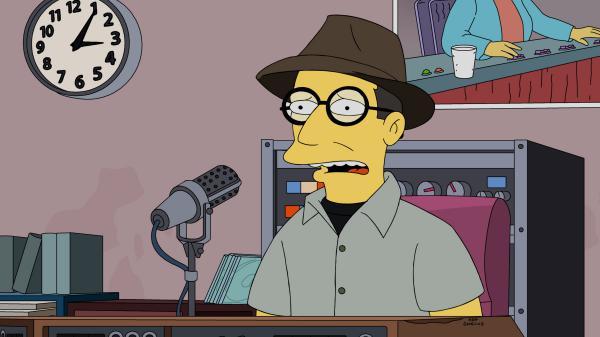 NPR's Bob Boilen as himself on <em>The Simpsons.</em>