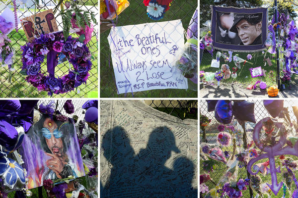 Scenes from the Paisley Park Fence in Chanhassen, Minn.