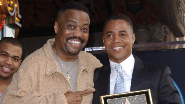 Cuba Gooding Sr., seen here with his son Cuba Gooding Jr., died Thursday in Los Angeles.