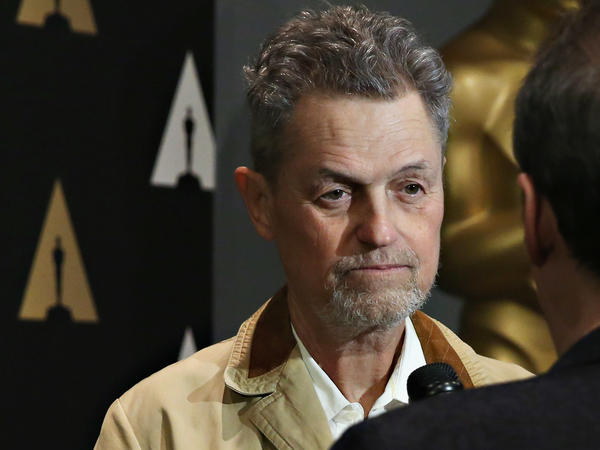 Jonathan Demme speaks with an interviewer at a 25th anniversary showing of <em>The Silence of the Lambs</em> at the Museum of Modern Art in New York City last year.