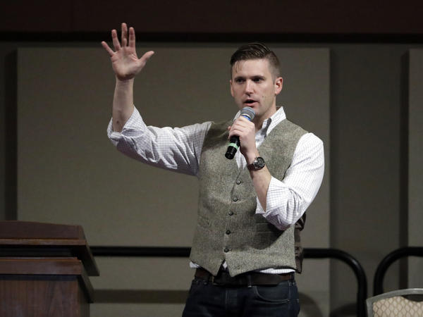 Richard Spencer speaks at the Texas A&M University campus in December 2016.