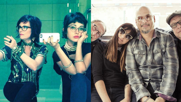 Nancy And Beth (left) and Pixies will perform at Non-Comm 2017 Thursday afternoon.