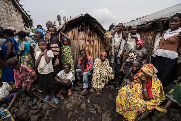 The camp at Mungote is one of the largest for internally displaced persons in the Democratic Republic of Congo, with over 12,000 residents who fled their homes due to ongoing conflict and violence.