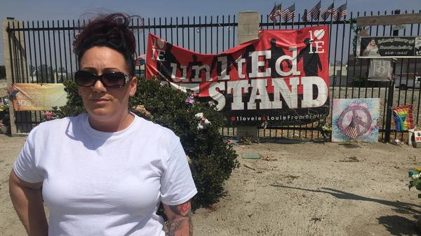 """Denise Zamora is the organizer of Saturday's """"March Against Sharia"""" in San Bernardino, Calif., the site of a 2015 mass shooting."""