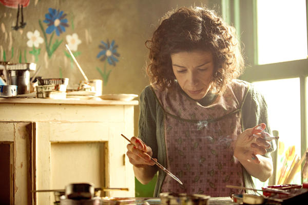 Sally Hawkins stars in <em>Maudie</em>, <em></em>the true story of Canadian folk artist Maud Lewis, who painted cheerful scenes on whatever materials she could find.