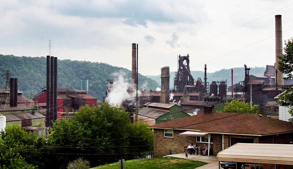 Coal and steel jobs were once plentiful in Steubenville, Ohio. Today, the local hospital is the top employer in the county.
