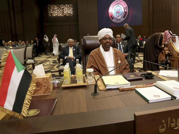 Sudanese President Omar al-Bashir attends talks of the Arab League summit in Jordan in March. He is wanted by the International Criminal Court on charges including crimes against humanity.