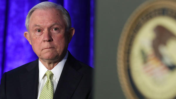 Attorney General Jeff Sessions attends the National Summit on Crime Reduction and Public Safety on June 20 in Bethesda, Md.