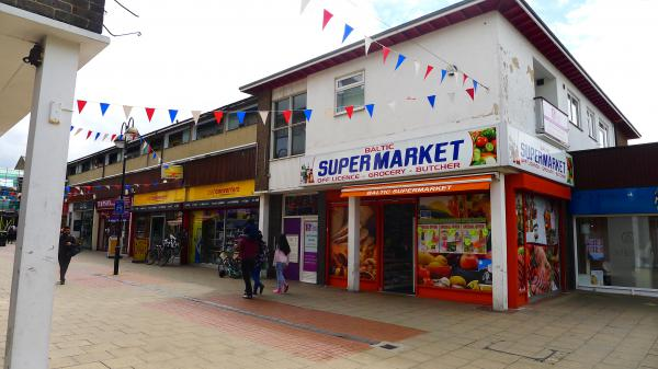 A grocery store in Crawley caters to immigrants from Estonia, Latvia and Lithuania.