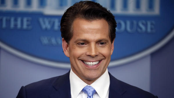 Incoming White House communications director Anthony Scaramucci speaks to members of the media in the Brady Press Briefing Room of the White House on Friday, July 21, 2017.