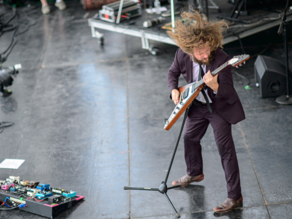Jim James, a frequent performer at the Newport Folk Festival, returns again this year. He's seen here in a set from 2013.