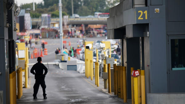 Customs and Border Protection agents at the San Ysidro Port of Entry in California earlier this year.