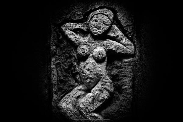 """This is a beautiful abstract nude that could be in an art museum,"" photographer Jeff Gusky says of this figure, carved into the quarry wall by a World War I soldier."