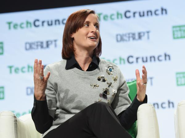 Danielle Brown speaks during TechCrunch Disrupt NY 2016. She is Google's new chief diversity officer, a position she previously held at Intel.