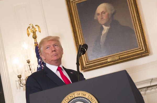 President Trump prepares on Monday to make a statement denouncing white supremacists who participated in the weekend violence in Charlottesville, Va.