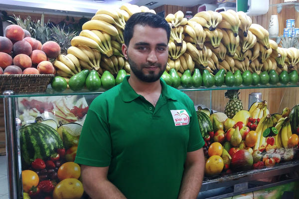"""Majd al-Hassan, 26, a Syrian refugee who works in a fruit smoothie shop in Istanbul's Fatih neighborhood, has lived in Turkey for two years. """"We've got Syrian supermarkets, Syrian restaurants — just like back home,"""" he says. """"I haven't even applied for a Turkish ID card. If peace comes to Syria, I'll go home tomorrow."""""""