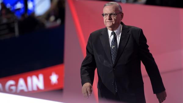 Arizona Sheriff Joe Arpaio spoke in support of then-candidate Donald Trump at the Republican National Convention last summer.